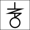 tarot_scholar: A black mystical-looking sigil on a white background. (Default)