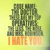 dramaturgy: ([DW/T] Mrs. Robinson.)