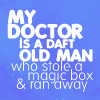 dramaturgy: ([DW/T] My Doctor.)