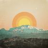 pomona: A stylized sun rising over a mountain range (Quiet)
