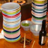 vampwillow: pile of sushi plates (sushi)
