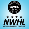 womenshockey: nwhl and cwhl logos on a blue background (Default)