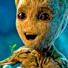 leesa_perrie: icon of a happy looking Baby Groot from Guardians of the Galaxy Vol 2 (Baby Groot Happy)