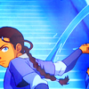 aberration: Katara from A:TLA leaned forward, her braid and arm behind her as she directs a whip of water. (there is a war coming)