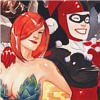 ladydreamer: Harley Quinn and Poison Ivy stand back to back. (Ivy Quinn)