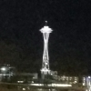 azurelunatic: The Space Needle by night. Slightly dubious photography. (Seattle, Space Needle)