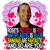 longlivehumour: Roses are red / antiplastic is blue / bananas are fantastic / and so are you (ninth doctor)