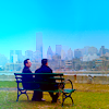 sunlit_stone: Finch and Reese on a bench (Default)