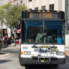 jesse_the_k: Front of Gillig 40-pax bus rounding Madison's Capital Square (Metro Bus rt 6)