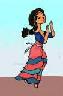 minoanmiss: Dancing Minoan girl drawn by me (Dancer)