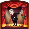 msdirector: Me taking a bow on stage (on stage, Taking a bow)