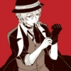 domusarcanum: Chuuya Nakahara putting his gloves on (Chuuya)