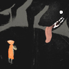 legrandjour: A large dog with little orange riding hood (Big dog)