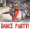 "next_to_normal: Steve and Thor (Avengers) with the text ""dance party!"" (dance party)"