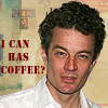 "next_to_normal: James Marsters looking tired with text ""I can haz coffee?"" (coffee)"