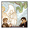 sarani: Angel and Demon having tea (Angel, Demon, Good Omens)