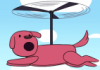rosetintedbubbles: It's a pink cartoon dog that's also a helicopter (dogcopter)