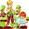 peapods: (boy girl garden)