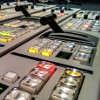 crazyscot: Close-up of part of a vision mixing panel (vmx2017, broadcast)