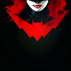aurumcalendula: the lower half of Kate Kane's face and her Batwoman logo (Batwoman)