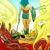 aurumcalendula: Diana walking away after a battle (Diana (comics))