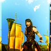 goodbyebird: Xena: Xena with armor and sword in hand, ready to do some shit. (Xena strut)