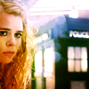 "anoyo: ""Rose"" looking sad with the TARDIS in the frame. (dw rose 50th sad eyes)"