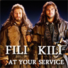 tarotgal: (Hobbit-Fili & Kili at your service)