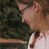 hagar_972: Woman looking away from the camera, smiling (Me)