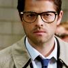 reijamira: ([SPN] Cas with glasses looking smart)