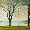 rabbitica: painting of willows by cayuga lake (willows)