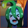 coprime: Suu the slime girl making an XD face (Suu XD)