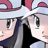 secretlyaketchum: Official remake art of Red and Leaf from Gen 3. (red and leaf, the pallet town twins, twinsies)