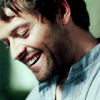 dulcinea: 2014!Castiel from The End, smiling ([SPN] How do you roll?)