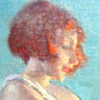 firebunny: The profile of a young girl with red hair. A detail of a painting by Arthur Prince Spear (Default)