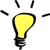 thnidu: glowing light bulb. tinyurl.com/33j2v8h (light bulb)