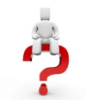 thnidu: blank white robot/avatar sitting on big red question mark. tinyurl.com/cgkcqcj via Google Images (question mark)