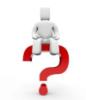 thnidu: blank white robot/avatar sitting on big red question mark. tinyurl.com/cgkcqcj via Google Images (question mark)