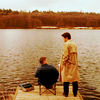 dulcinea: Dean and Castiel at the end of the pier. ([SPN] Profound bond.)