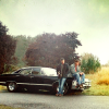 dulcinea: Faraway shot of Dean and Sam sitting on the hood of the Impala. ([SPN] Family portrait.)