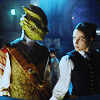 dulcinea: The Silurian and her girlfriend from A Good Man Goes to War ([DW] Victorian Cross-species Lesbians)