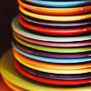 faere: colourful plates stacked up (colourful plates)