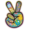 istia: a flower-printed hand with 2 fingers raised in peace sign (x | peace sign)