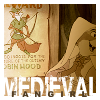 "trouble: Maid Marion from the Disney cartoon of Robin Hood, looking at a poster of Robin.  ""Medieval Fangirl"" (Medieval Fangirl)"