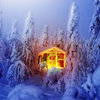 auroracloud: (cabin in wintry woods)