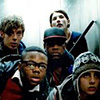 rebcake: Crew looking out of elevator in Attack the Block (attack the block)