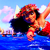poisontaster: Screencap of Moana, leaning into the wind (Farrell)