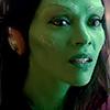 ninety6tears: GOTG: gamora w/ headphones (gamora)