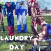 haldoor: Superhero laundry day (misc-laundry day)