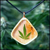 flybirds: A picture of a pendant on green background, MJ motif on it. (Pendant)